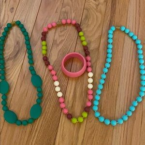 Chewbeads teething necklaces LOT of 3